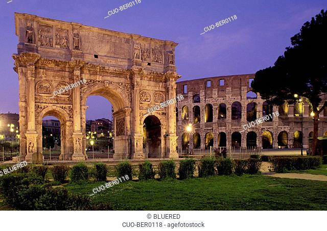 Arco di Costantino, Colosseo, Rome, Lazio, Italy