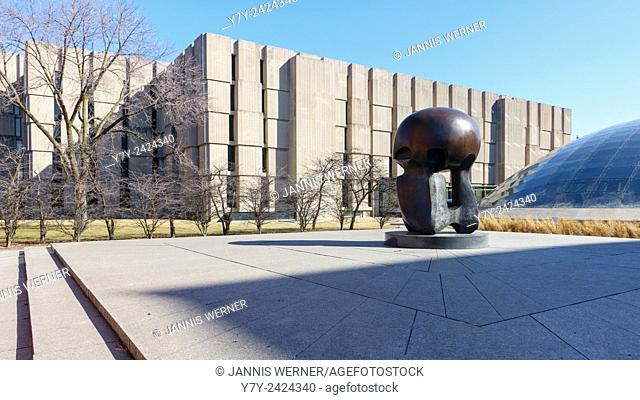 The Joseph Regenstein Library at the University of Chicago in Chicago, IL, USA