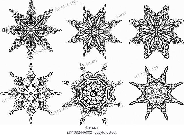 Mandala ethnic indian illustration design