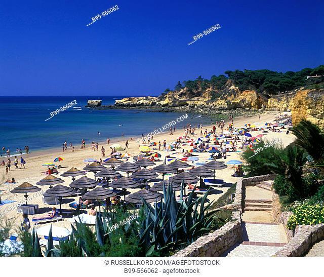 Praia De Santa Eulalia, Albufeira, Algarve Coastline, Portugal