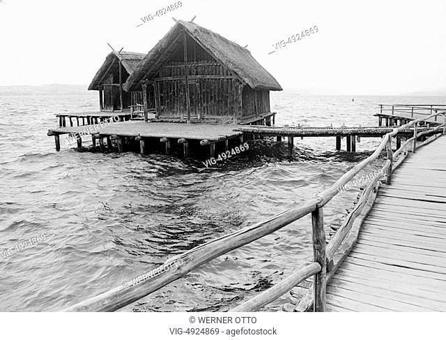 Eighties, D-Uhldingen-Muehlhofen, Lake Constance, Baden-Wuerttemberg, Stilt House Museum Unteruhldingen, archaeological open-air museum