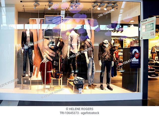 Calais France Cite Europe Tie Rack Accessories Shop, Stock Photo ...