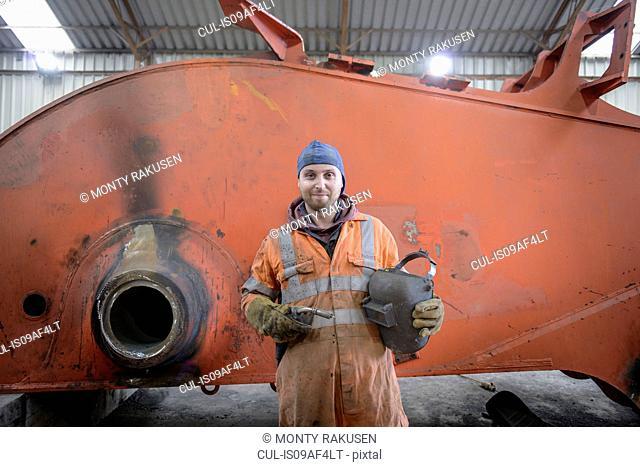 Portrait of apprentice engineer in surface coal mine
