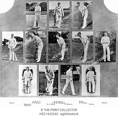 The England team of 1912. This is the side which beat South Africa at Lord's by an innings and 62 runs. From Imperial Cricket