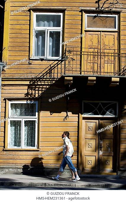 Estonia Baltic States, Saaremaa Island, Kuressaare Village, Lossi Street