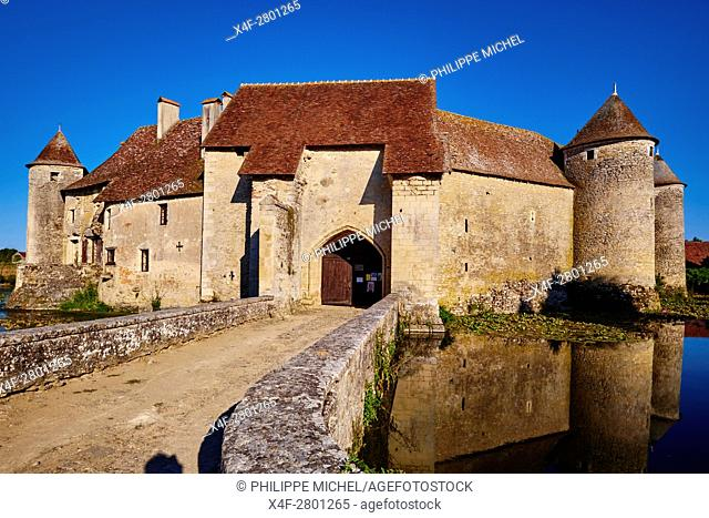 France, Cher (18), Berry, Chateau de Sagonne castle, approved historical monument, the Jacques Coeur road