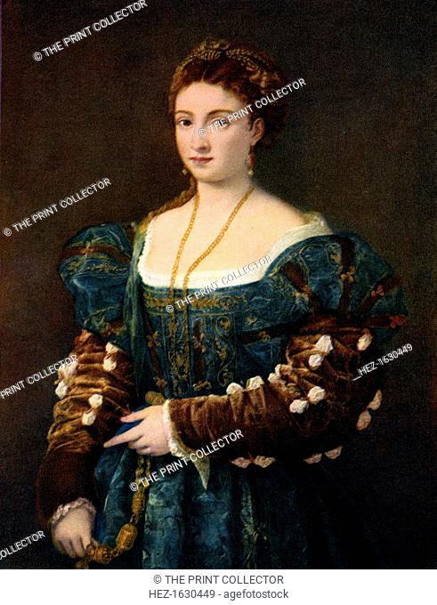 'Portrait of a Noblewoman, or La Bella', c1536, (1937). A print from Titian Paintings and Drawings, introduction by Hans Tietze, Phaidon Press, Vienna, 1937