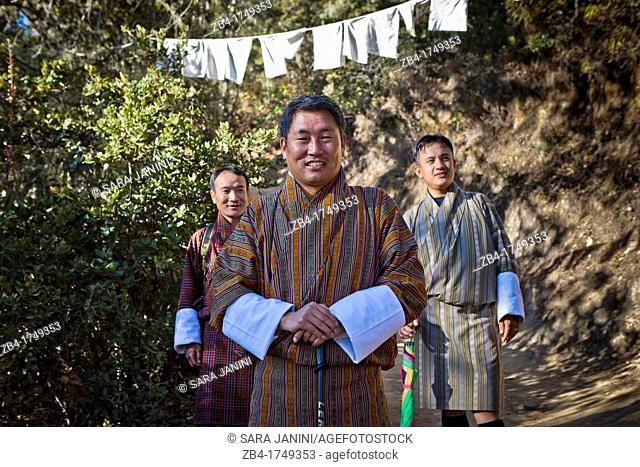 Ministry of Agriculture, Lyonpo Pema Gyamtsho, in the way to the Taktsang Monastery Tiger's Nest, Paro Valley, Bhutan, Asia