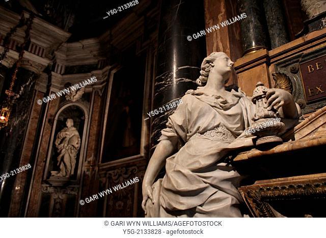Interior of Santa Maria Sopra Minerva Basilica in Rome Italy
