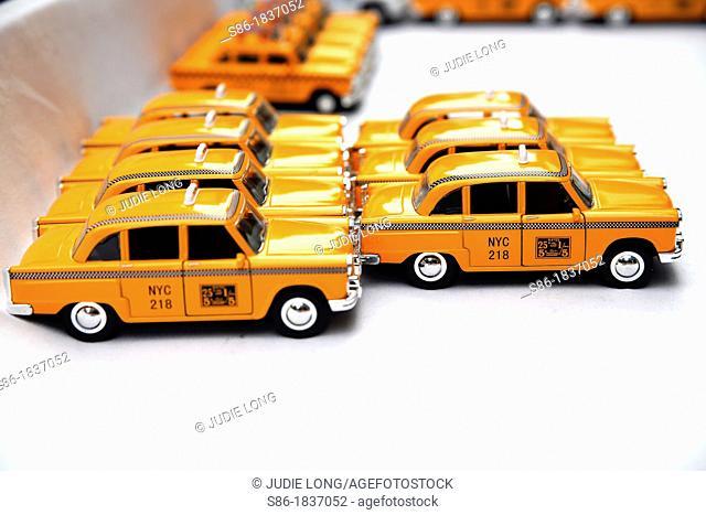 Toy Replicas of, Checker New York City Taxi Cabs