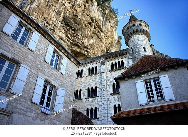 Sanctuary of Rocamadour, Lot Department, Midi-Pyrenees, France. Natural Park of the Quercy Regional Causses