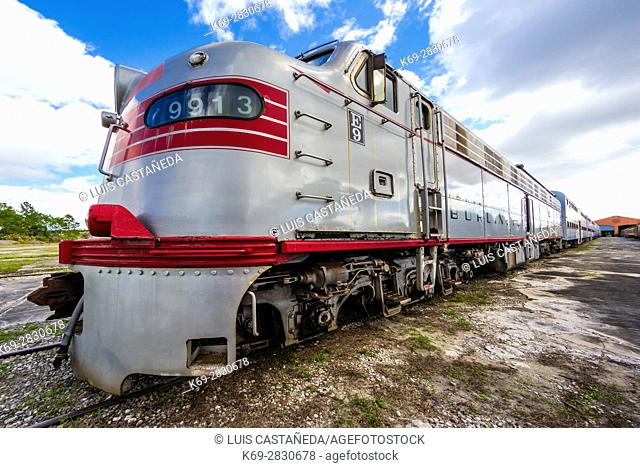 Old Railroad. Railroad Museum. Miami. Florida. USA
