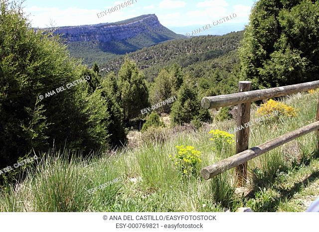 Scenery Gudar mountains Teruel Aragon Spain