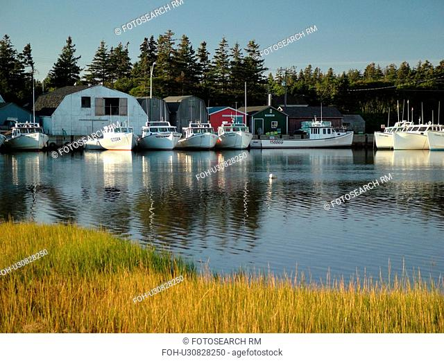 Canada, Prince Edward Island, Prince County, Gulf of Saint Lawrence, Malpeque, fishing village, harbor, fishing boats, marina