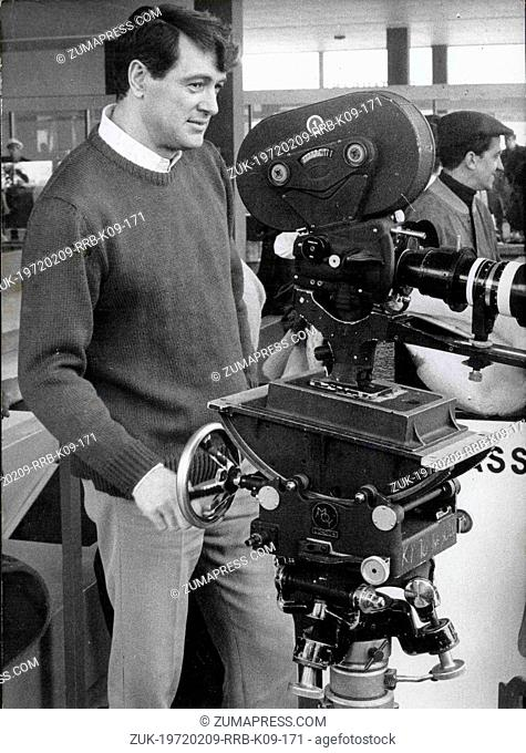 Jan. 18, 1968 - Hollywood, CA, U.S. - Actor ROCK HUDSON watches through the camera on set of his film, 'A Fine Pair,' co-starring Claudia Cardinale