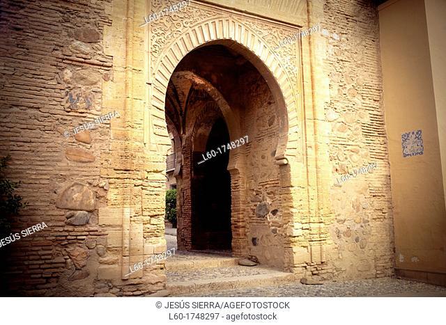 'Puerta del Vino', Alcazaba, Alhambra, Granada Andalusia, Spain