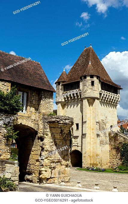 The medieval gate, Porte du Croux, Nevers, Nievre, France