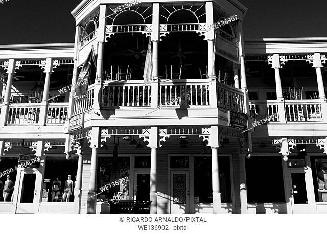 Shops along Duval Street, Key West