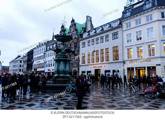 The Strøget in Copenhagen, Denmark