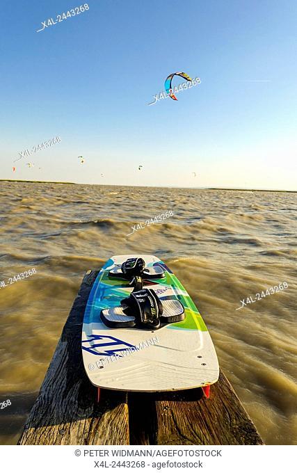 Kite Surfing, Lake Neusiedler See, Breitenbrunn, Burgenland, Österreich, Austria, Neusiedlersee Seewinkel
