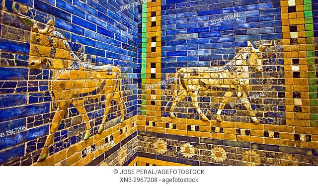 Ishtar Gate of Babylon, Pergamon Museum, Museum Island, Berlin, Germany, Europe