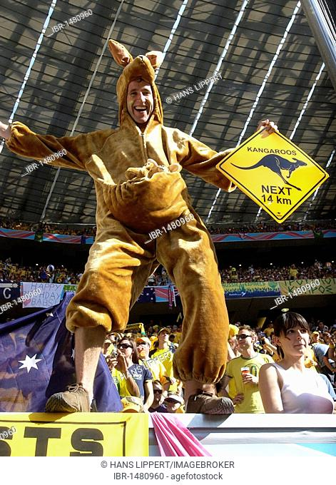 Australian football fan dressed as a kangaroo at the World Cup 2006 in Germany