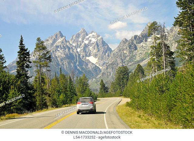 Highway Grand Teton National Park Wyoming WY United States