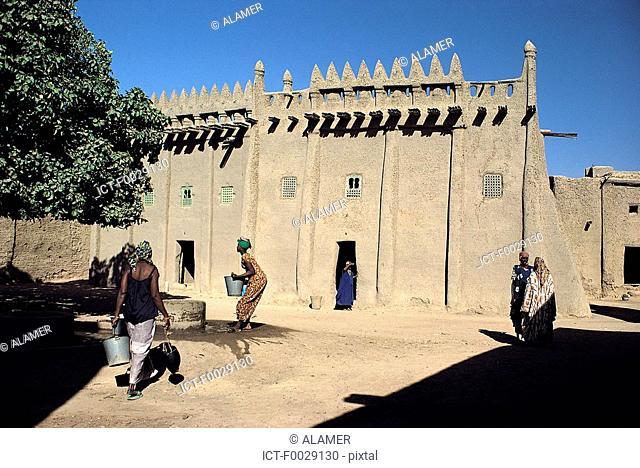 Mali, Djenné, old traditionnal houses