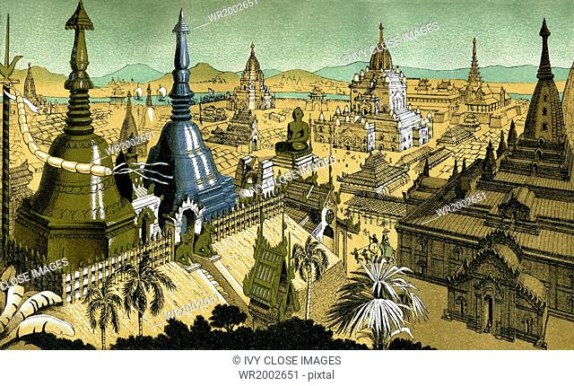 Mien was the medieval capital of Myanmar (formerly called as Burma) and it was widely known for its gold- and silver-topped buildings