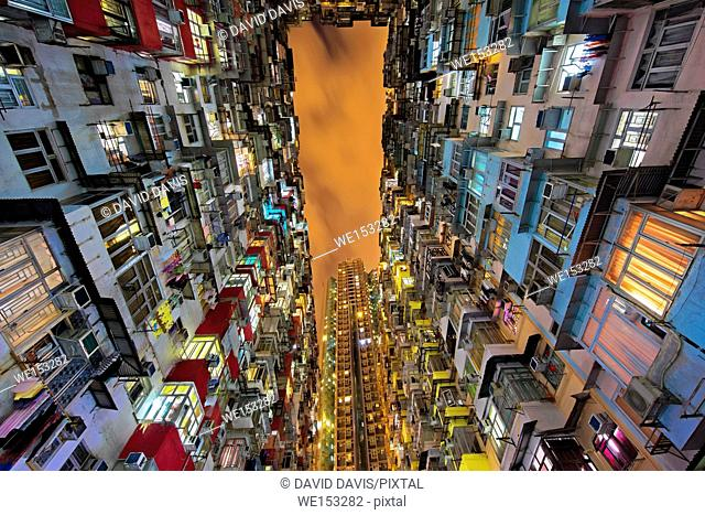 Quarry Bay high rise housing on Hong Kong Island in Hong Kong China
