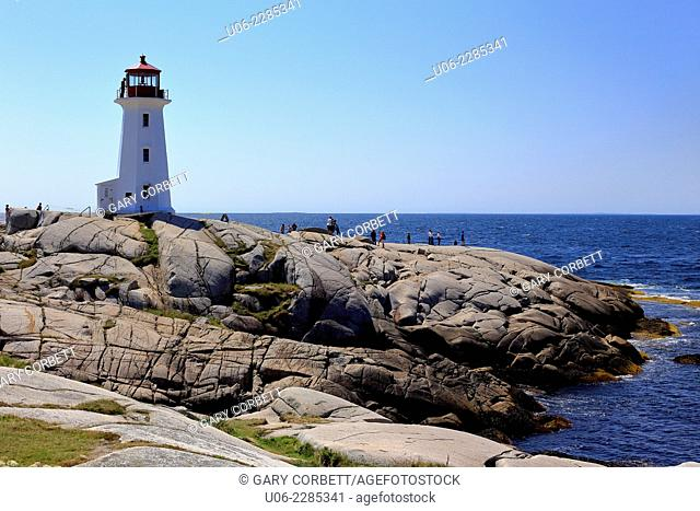 The Peggy's Cove Lighthouse, Nova Scotia, Canada