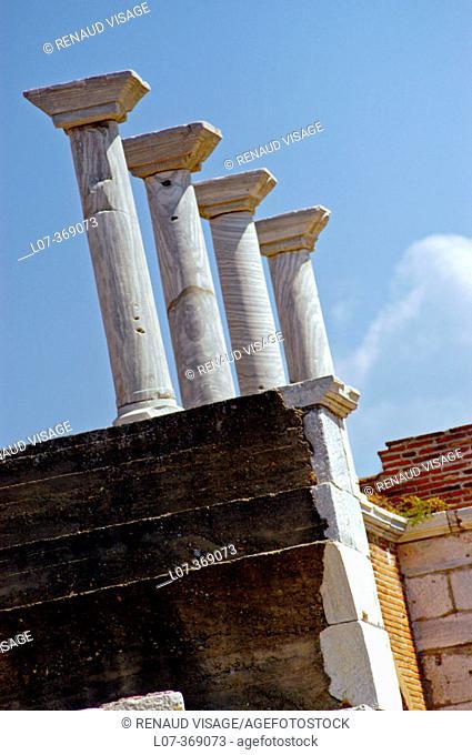 Columns at the Basilica of St. John. Selçuk. Turkey