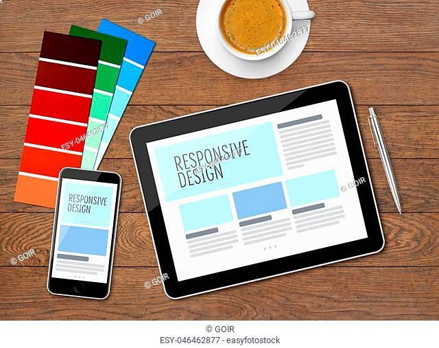 Responsive design on mobile devices on desk