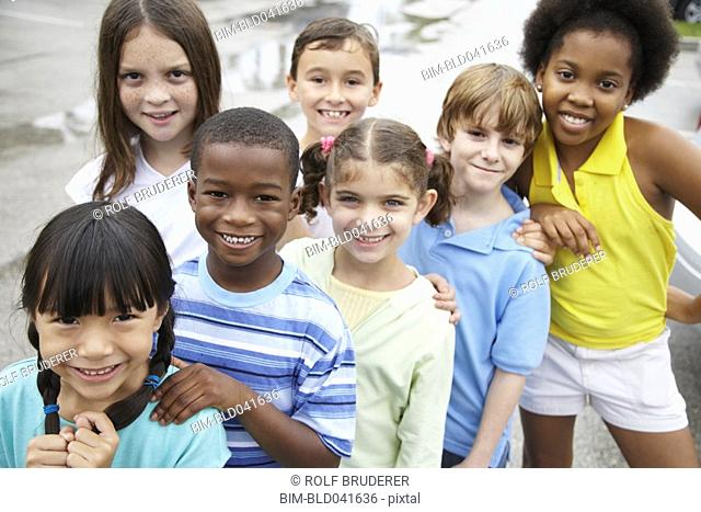 Group of multi-ethnic children