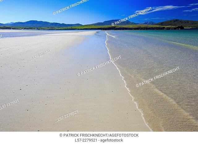 Sandy baech at Balnakeil Bay, Scotland