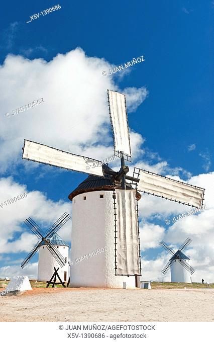 Windmills, Campo de Criptana, Ciudad Real province, Castilla-La Mancha, Spain