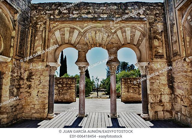 Upper Basilica Building on Archaeological Site of Medina Azahara, Madinat al-Zahra, Near Cordoba, Andalusia, Spain