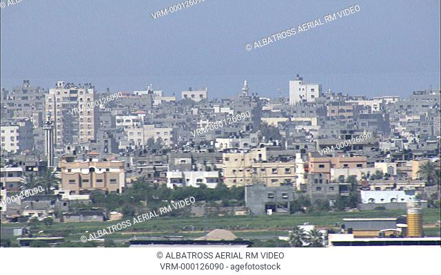 Aerial footage of the Gaza Strip