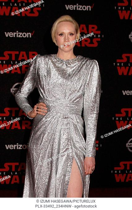 """Gwendoline Christie 12/09/2017 The World Premiere of Lucasfilm's """"""""Star Wars: The Last Jedi"""""""" held at Shrine Auditorium in Los Angeles"""