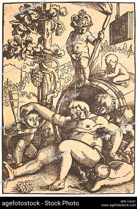 The Drunk Bacchus. Artist: Hans Baldung (called Hans Baldung Grien) (German, Schwäbisch Gmünd (?) 1484/85-1545 Strasbourg (Strassburg)); Date: ca