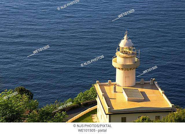 Lighthouse of Igeldo Mountain, Donostia-San Sebastian, Guipuzcoa, Basque Country, Spain