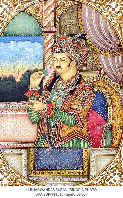 Miniature Painting of Mughul Emperor Jahangir India Asia