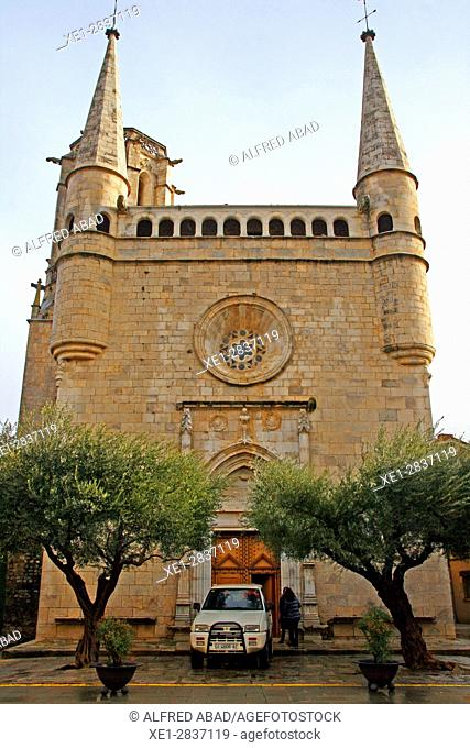 Church of Sant Esteve, Bordils, Girona, Catalonia, Spain