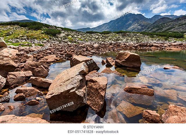 Landscape with Musala peak and Musalenski lakes, Rila mountain, Bulgaria