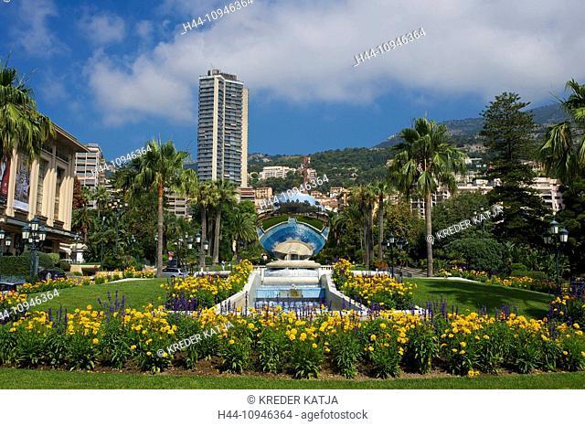 France, Europe, South of France, Cote d'Azur, Jardins de Boulingrins, Anish Kapoor sculpture, Monaco, Monte Carlo, town park, outside, day