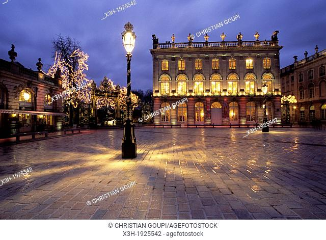 Opera national de Lorraine, Place Stanislas, Nancy, Meurthe-et-Moselle department, Lorraine region, France, Europe