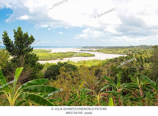Tanzania, Zanzibar, Pemba Island, view over Pemba