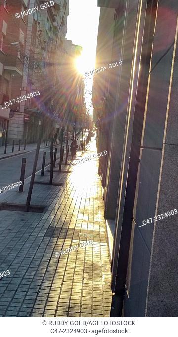 Sidewalk street, Barcelona