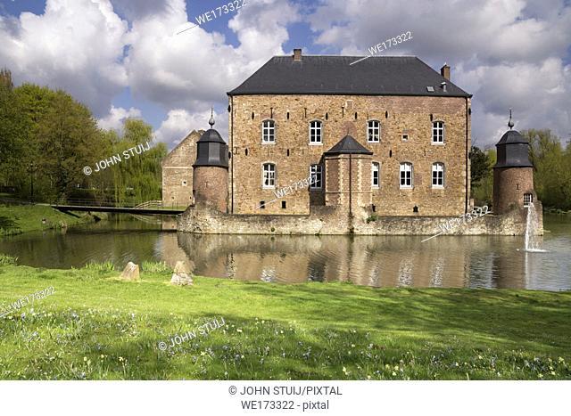 Castle Erenstein in the Anstel valley in the Dutch town Kerkrade