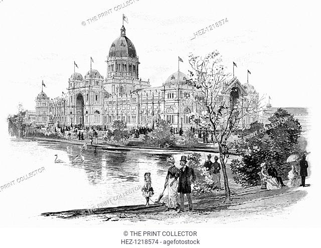 Melbourne Exhibition Building, Victoria, Australia, 1886. The Exhibition Building was designed by Joseph Reed and completed in 1880 for Melbourne's first...